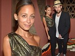 Designer Nicole Richie stands out in a sparkling Grecian inspired top as she mingles with the competition at fancy jewelry dinner