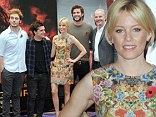 They've arrived in the Capital: Elizabeth Banks, Liam Hemsworth and the Hunger Games cast descend on London