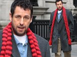 Adam Sandler shows his serious side as he steps into his role as a shoe repairman on set of The Cobbler