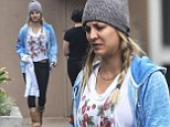 Working out that frustration! Kaley Cuoco hits the gym for an early session after angrily denying pregnancy claims