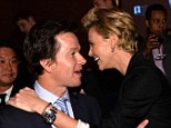 Fancy seeing you here! Former co-stars Charlize Theron and Mark Wahlberg reunited at the premiere of his new film Lone Survivor in Hollywood on Tuesday night