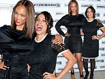 Fashion face-off! Tyra Banks and Rosario Dawson battle it out on the red carpet in little black dresses