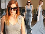 Sassy single: Just days after splitting from her ex, Rumer Willis showed off her updated 'do and slim figure as she went shopping at Civilianaire in Los Angeles, California on Tuesday