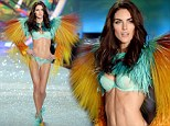 Who's a lucky boy! Sean Avery's new fiancee Hilary Rhoda is in fine form in winged lingerie outfit at Victoria's Secret fashion show