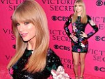 Stealing the models' thunder! Taylor Swift displays her catwalk-worthy legs in sequined minidress on pink carpet at Victoria's Secret Fashion Show