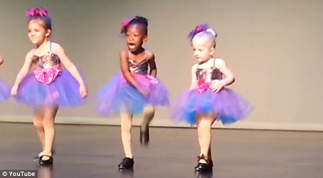 Star of the future? She's already become a hit on the internet after footage of the performance was uploaded on YouTube