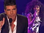 Eighties night: Lillie McCloud opened up the performances on The X Factor on Wednesday with the Chaka Khan song Ain't Nobody and caught the eye of judge Simon Cowell