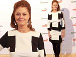Susan Sarandon, 67, is on trend in monochrome and combat boots as she judges documentary film award