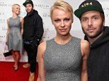 Forget to dress up? Pamela Anderon's boyfriend Rock Saloman wore a hoodie and baseball cap to The Martin Katz Jewel Suite Debuts At The New York Palace Hotel in New York City on Wednesday