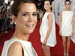 Kristen Wiig wears baggy 'napkin' dress for the LA premiere of The Secret Life of Walter Mitty