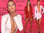 Angels Candice Swanepoel and Alessandra Ambrosio attend Victoria's Secret afterparty in plunging, cleavage baring mini dresses