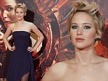 It looks like Jennifer Lawrence has taken style tips from Cameron Diaz's character in 90s film There's Something About Mary for the Madrid Hunger Games premiere