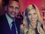 The baseball star, left, and girlfriend Torrie Wilson pictured at Monday night at a party in honour of Yankees legend Mariano Rivera, right