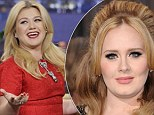'Girl, don't have a baby 'cause everything else will go on back burner': Adele, 25, told Kelly Clarkson, 31, to put off motherhood