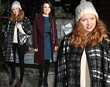 British model Lily Cole arrives for the VIP launch of the ice skating rink at Somerset House
