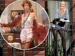 Is that you Miss Hannigan? Cameron Diaz sports tiny shorts to film Annie remake, in stark contrast to the dishevelled Carol Burnett in 1982 movie