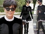 Twice as nice! Kris Jenner wears the same black and white frock for the second time in a month while out to lunch