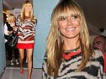 She's purr-fect! Heidi Klum is long and leggy in animal print... after an afternoon of shooting Germany's Next Top Model
