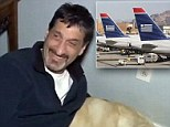 The stand-off came after Albert Rizzi's guide dog went 'out of control' according to crew on the flight from Philadelphia to MacArthur Airport on Long Island.
