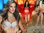 In fine feather! Alessandra Ambrosio and Adriana Lima fly high in dazzling lingerie adorned with wings at Victoria's Secret Fashion Show