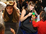 Jennifer Garner plays with children before the Strong Start for America's Children bill introduction