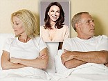 Unhappy Couple Sat in Bed