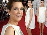 Kristen Wiig wears baggy 'napkin' dress for the LA premiere of The Secret Life of Walter Mitty