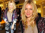 Sienna Miller cosies up in wool cardigan as she showcases Isabel Marant Pour H&M at preview party