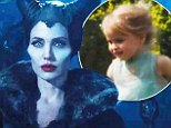 FIRST LOOK: Angelina Jolie is menacing as horned Mistress Of All Evil in new Maleficent trailer... and angelic daughter Vivienne makes her film debut