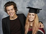 Family pride: Harry Styles and his sister Gemma on her graduation from Sheffield Hallum University on Wednesday
