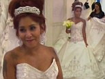 No leopard print in sight! Snooki finds her dream wedding dress... a traditional, ivory gown