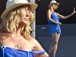 She's a judge on New Zealand's Got Talent and proves she's got it herself by taking a sexy selfie on the balcony of her beach house on Waiheke Island, New Zealand