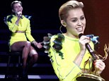 Miley Cyrus caused controversy with her skimpy outfits, then shocked us by covering up on the red carpet of Bambi Awards, but she striped off again before long