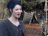 Former model and Hollywood film star Caitriona Balfe films scenes for new American TV series Outlander