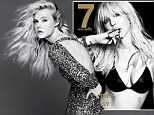Courtney Love flashes cleavage in a leather bra... while Elle Fanning shows off her high fashion credentials in cover shoot