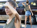 Nicole Richie shows off her slim legs in extremely short Daisy Dukes