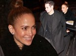 So much for ladies first! Jennifer Lopez' toyboy Casper Smart leads the way as they head to romantic meal in Rome