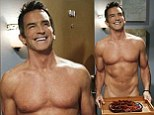 'No blue shirt!': Jeff Probst wears nothing but a smile as the Survivor host strips down to his birthday suit for his guest spot on Two and a Half Men