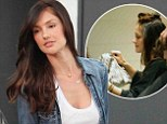 Gonna wash that man right out of my hair! Minka Kelly makes a trip to the hair salon as she moves on after split from Chris Evans