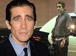Rage: Jake Gyllenhaal, pictured shooting Nightcrawler last month, punched a mirror on set on Wednesday