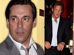 A couple of mad men! Jon Hamm enjoys family dinner with Sean Penn and his two kids... as Dylan brings mystery boy to meet Dad