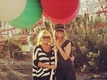 Bringing in the matriarch: Heidi Klum filmed scenes for Germany's Next Top Model with her mother Erma at Six Flags Magic Mountain in Valencia, California, on Wednesday