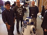 Coming to a galaxy near you: JJ Abrams company tweeted a first look behind the scenes of the director with robot R2 D2 on the set of Star Wars: Episode VII