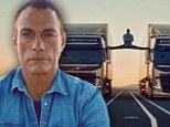 Jean-Claude Van Damme, 53, performs the splits between two moving trucks in breathtaking stunt
