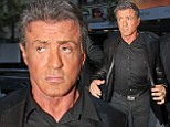 Sylvester Stallone flaunts an orange face, out and about in New York