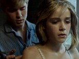 Controversial: Kiernan Shipke is seen developing an incestuous relationship with her on-screen brother played by Mason Dye in the first trailer for Flowers In The Attic