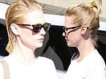 Just a bit off the ends? A wet haired January Jones emerges from the salon looking almost the same as she did when she walked in