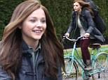 chloe moretz riding bike