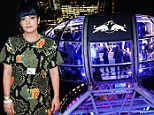 Hope she's got a head for heights! Lily Allen performs new single Hard Out Here 400ft in the air on London Eye