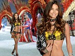 'Tonight I'll probably eat a pizza!' Angel Lily Aldridge reveals her post Victoria's Secret Fashion Show plans before taking to the catwalk wearing a pair of fiery wings